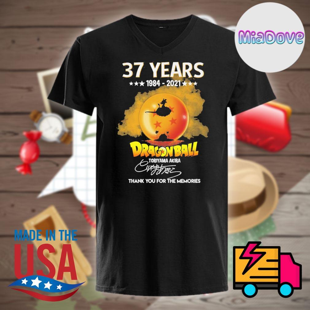 37 years 1984 2021 Dragonball Toriyama Akira signature thank you for the memories shirt
