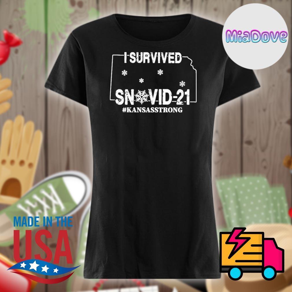 I survived SnoVid 21 Kansas strong s V-neck