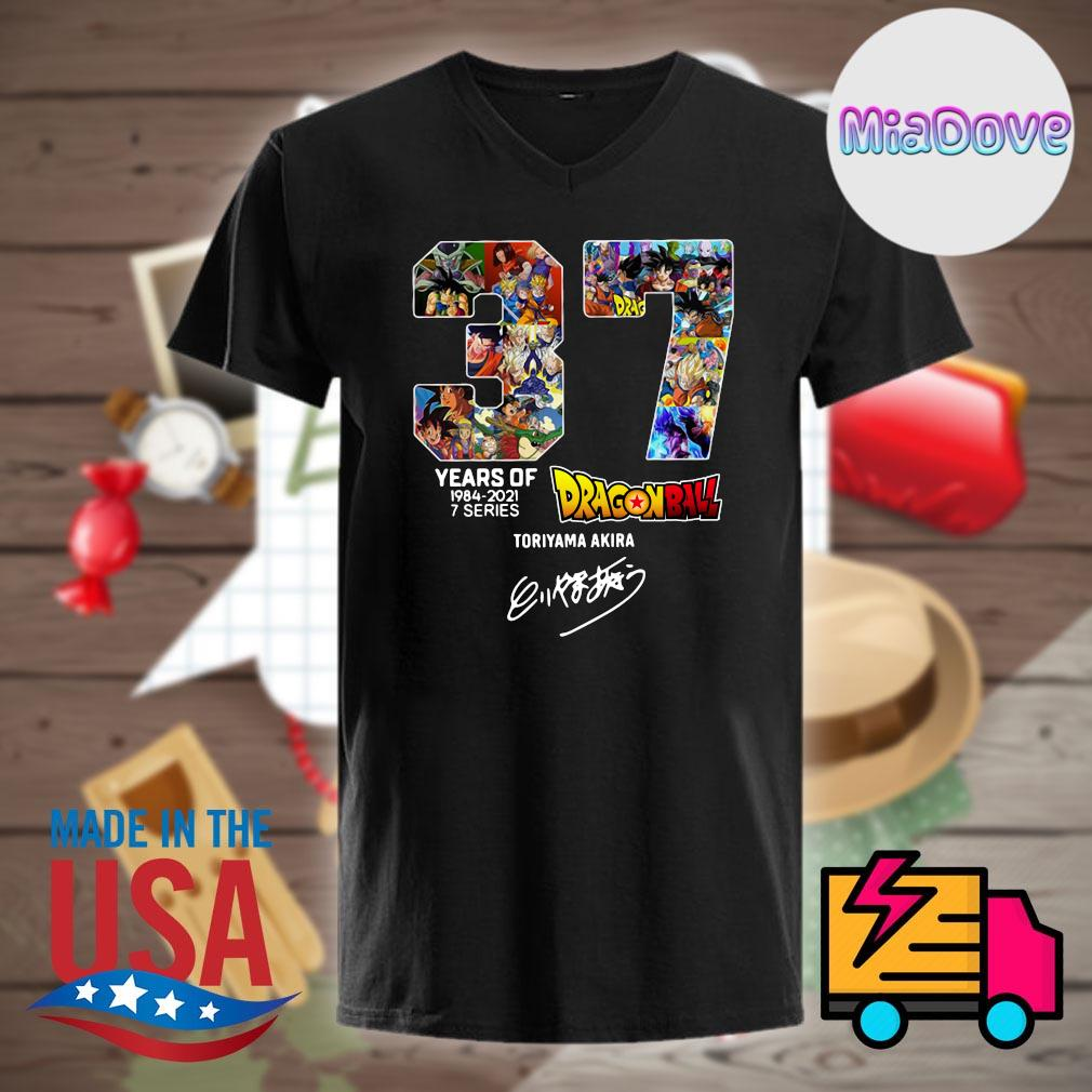 37 years of Dragon Ball 1984 2021 7 series Toriyama Akira signature shirt