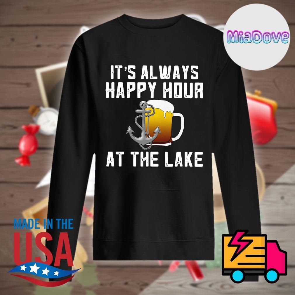 Beer It's always happy hour at the lake s Sweater