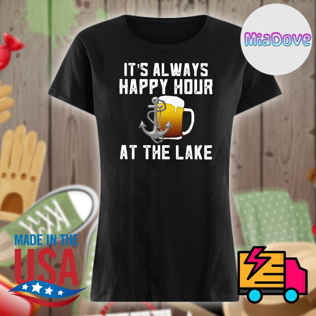 Beer It's always happy hour at the lake s V-neck