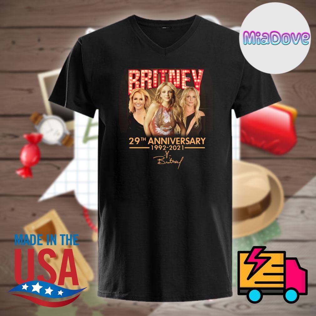 Britney 29th anniversary 1992 2021 signature shirt