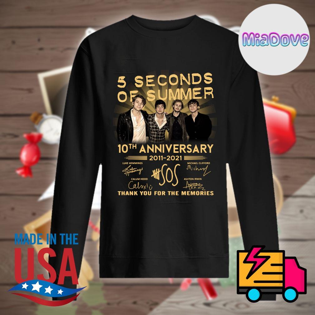 5 Seconds of Summer 10th anniversary 2011 2021 signatures thank you for the memories s Sweater