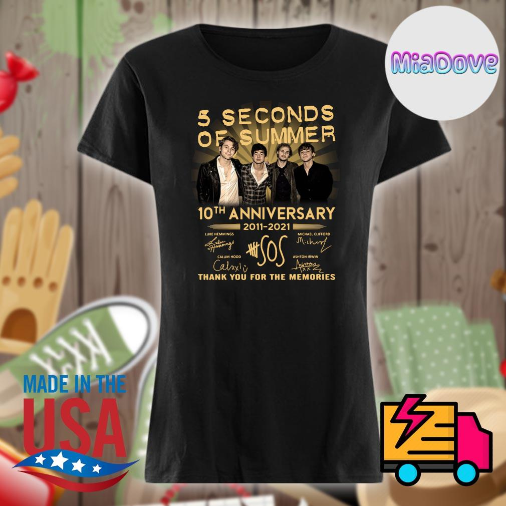 5 Seconds of Summer 10th anniversary 2011 2021 signatures thank you for the memories s V-neck