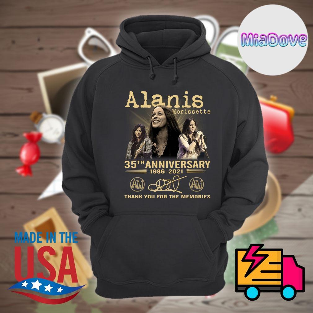 Alanis Morissette 35th anniversary 1986 2021 signatures thank you for the memories s Hoodie