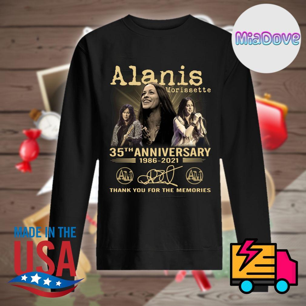 Alanis Morissette 35th anniversary 1986 2021 signatures thank you for the memories s Sweater