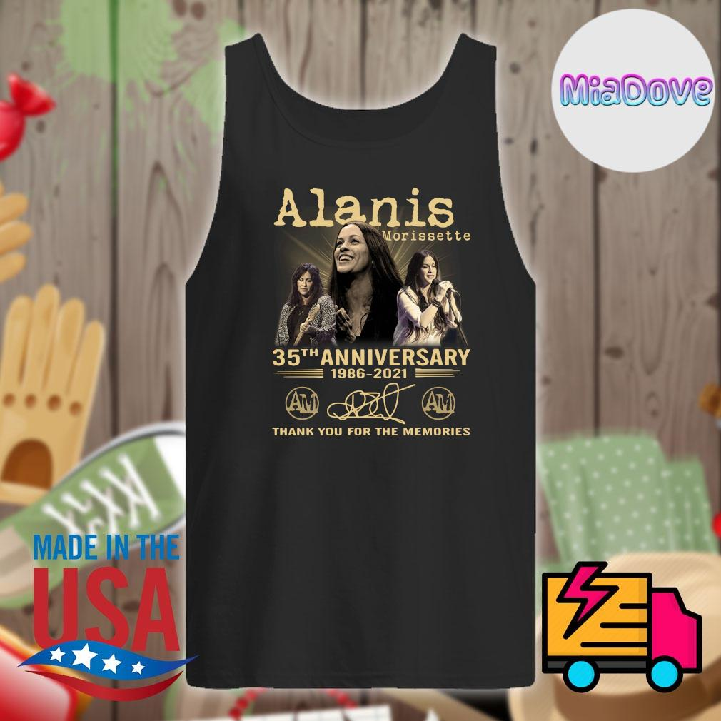 Alanis Morissette 35th anniversary 1986 2021 signatures thank you for the memories s Tank-top