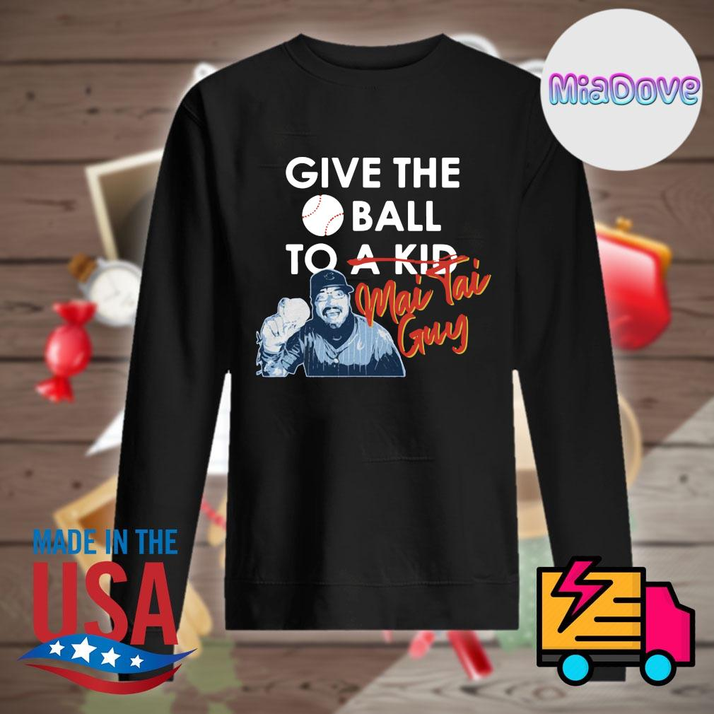 Chicago Cubs give the ball to a kid Mai Tai Guy s Sweater