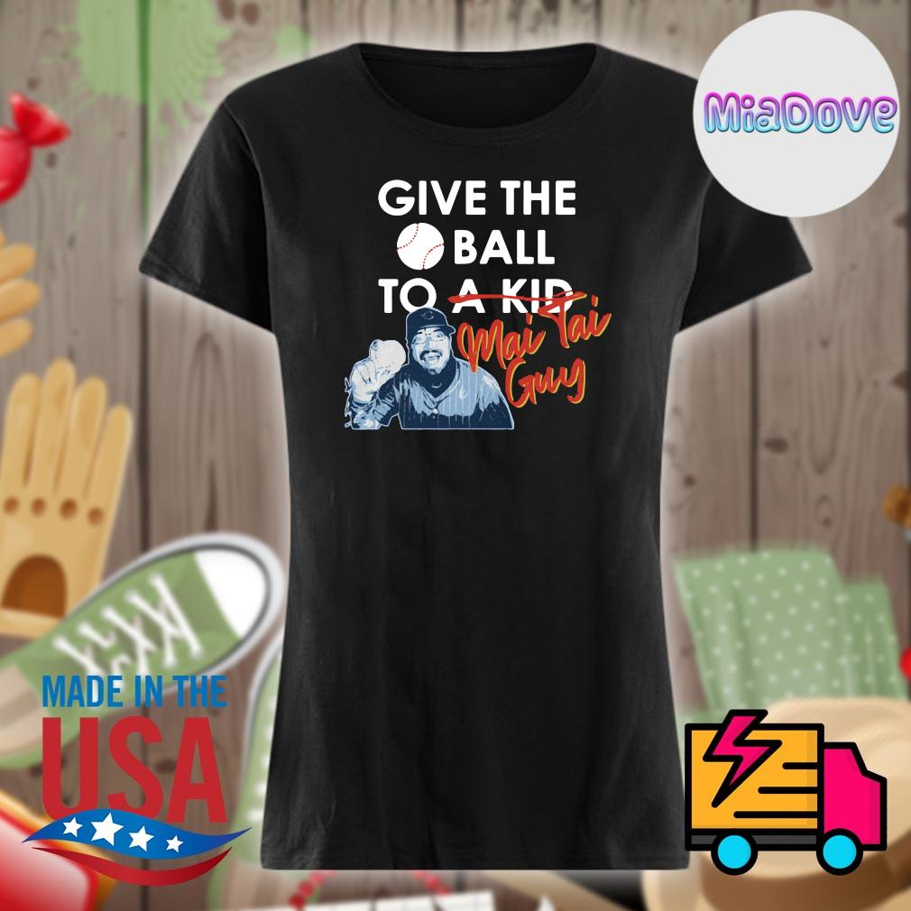 Chicago Cubs give the ball to a kid Mai Tai Guy s V-neck