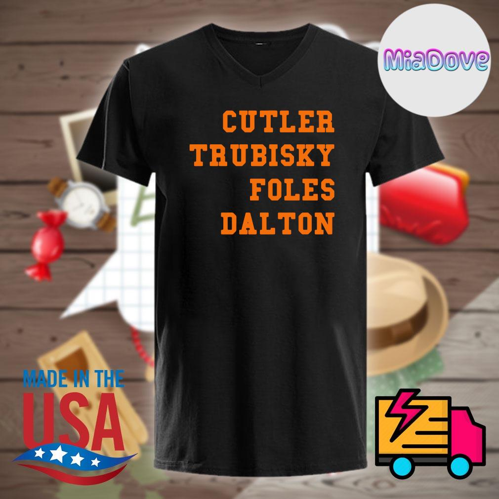 Cutler Trubisky Foles Dalton shirt