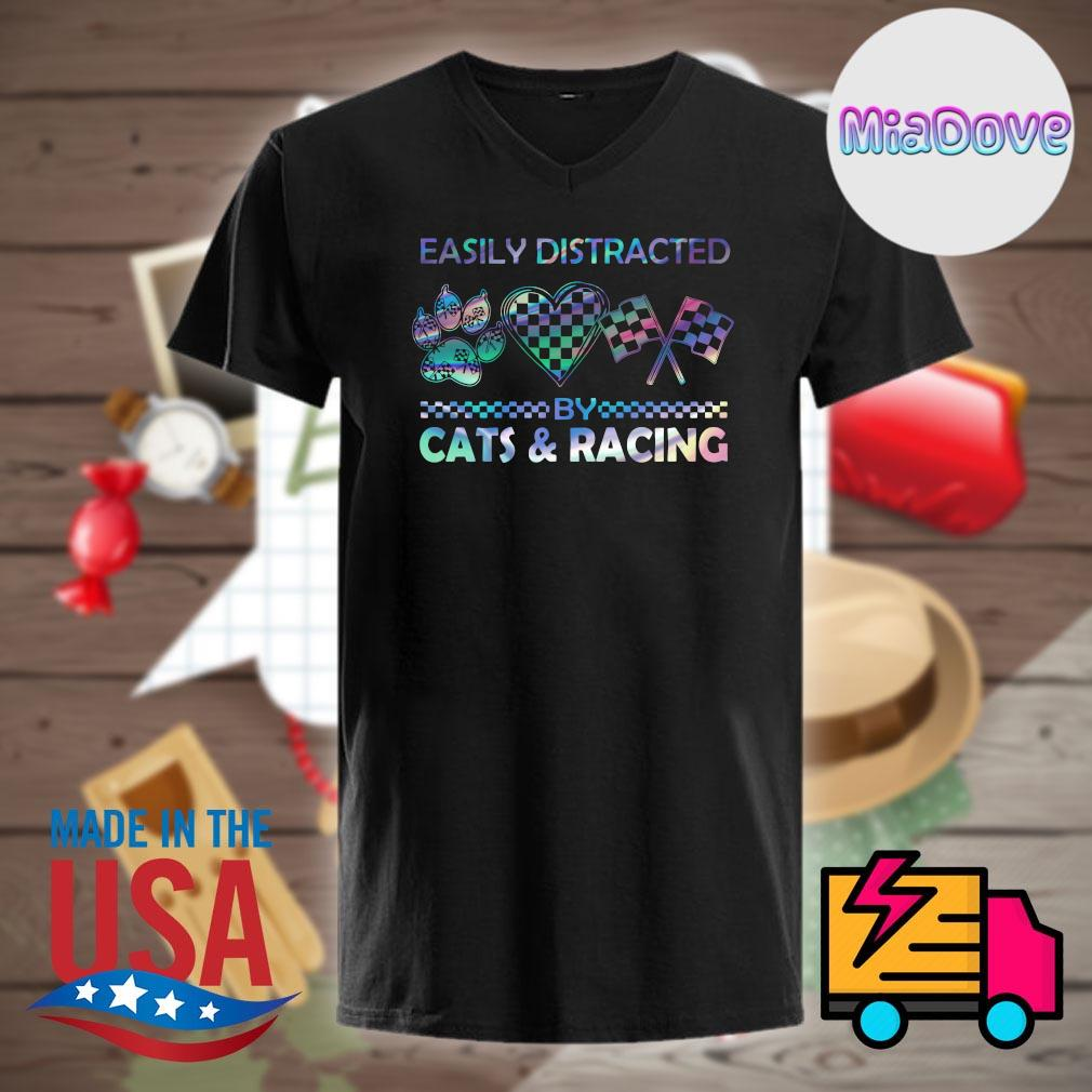 Easily distracted by cats and racing shirt