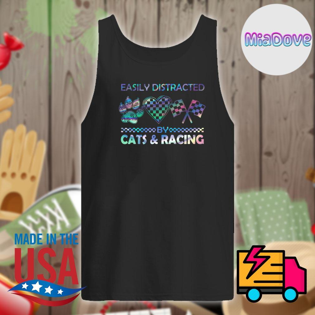 Easily distracted by cats and racing s Tank-top