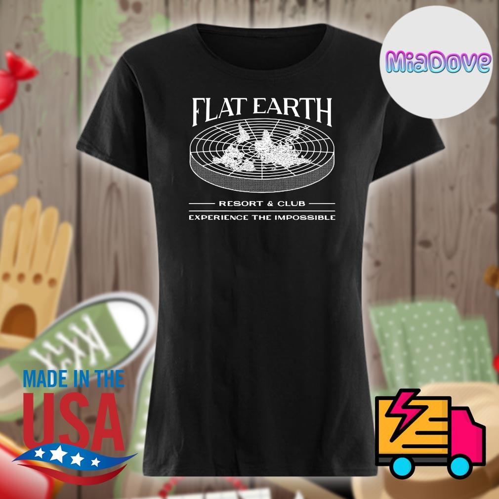 Flat Earth resort and club experience the impossible s V-neck