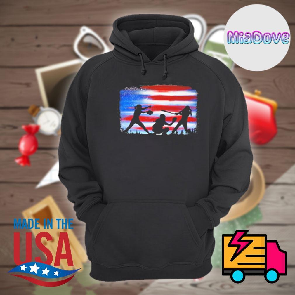 Softball player flag s Hoodie