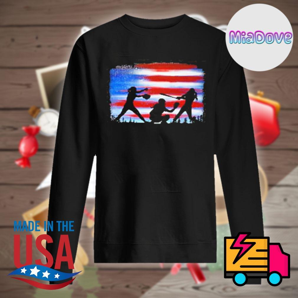 Softball player flag s Sweater