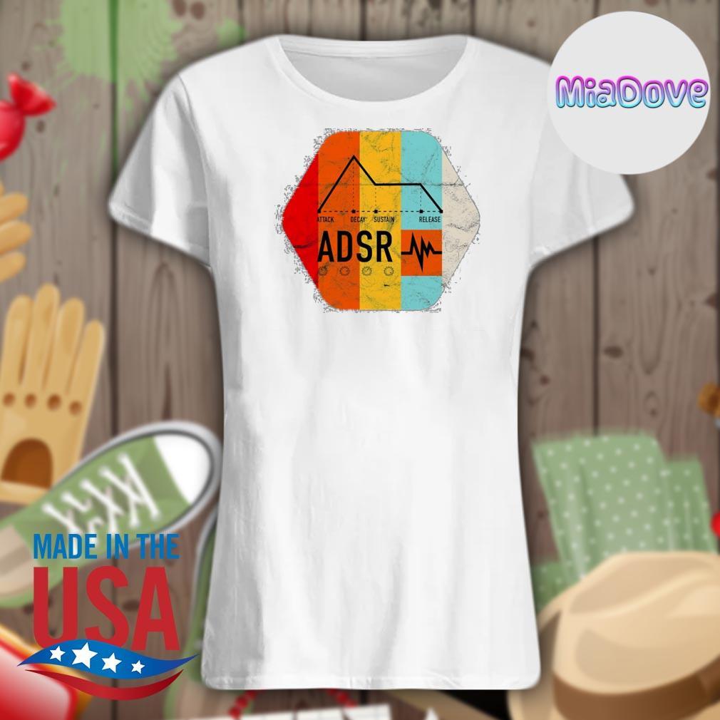 Synthesizer ADSR Color s V-neck