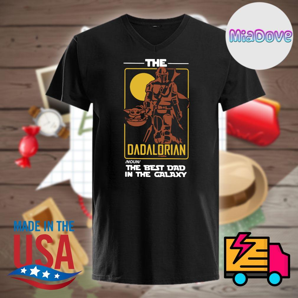 The Dadalorian noun the best dad in the galaxy shirt