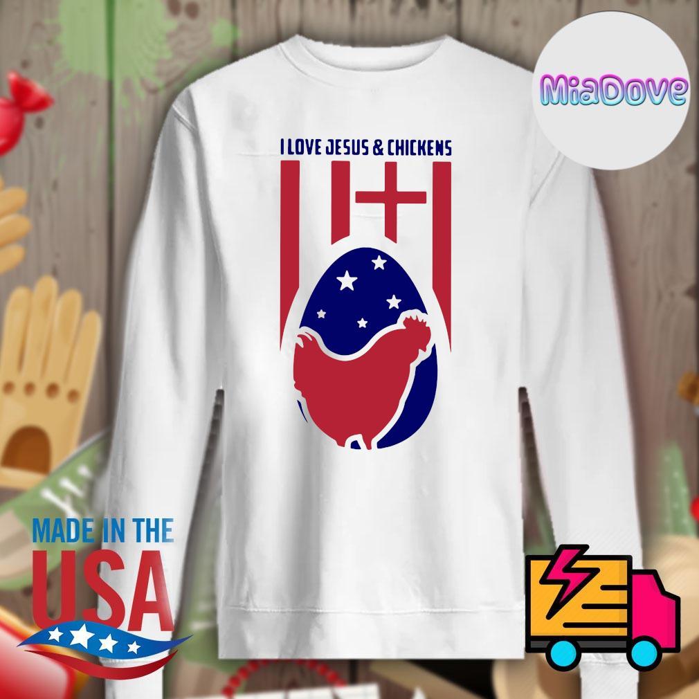 I love Jesus & chickens s Sweater