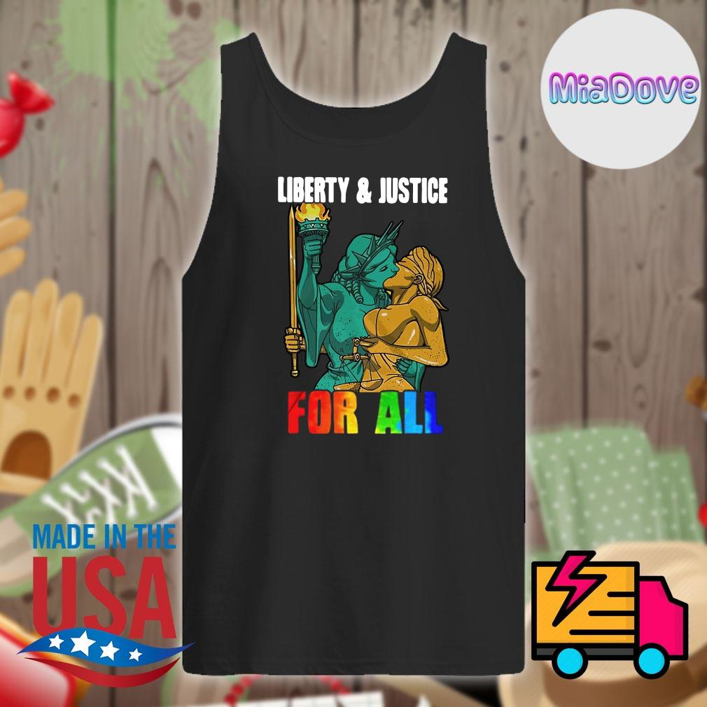 Liberty and justice for all lgbt s Tank-top