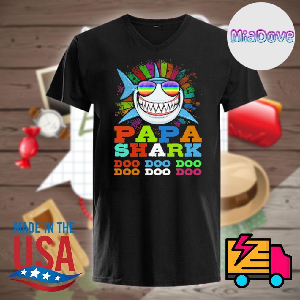 Papa shark doo doo doo shirt