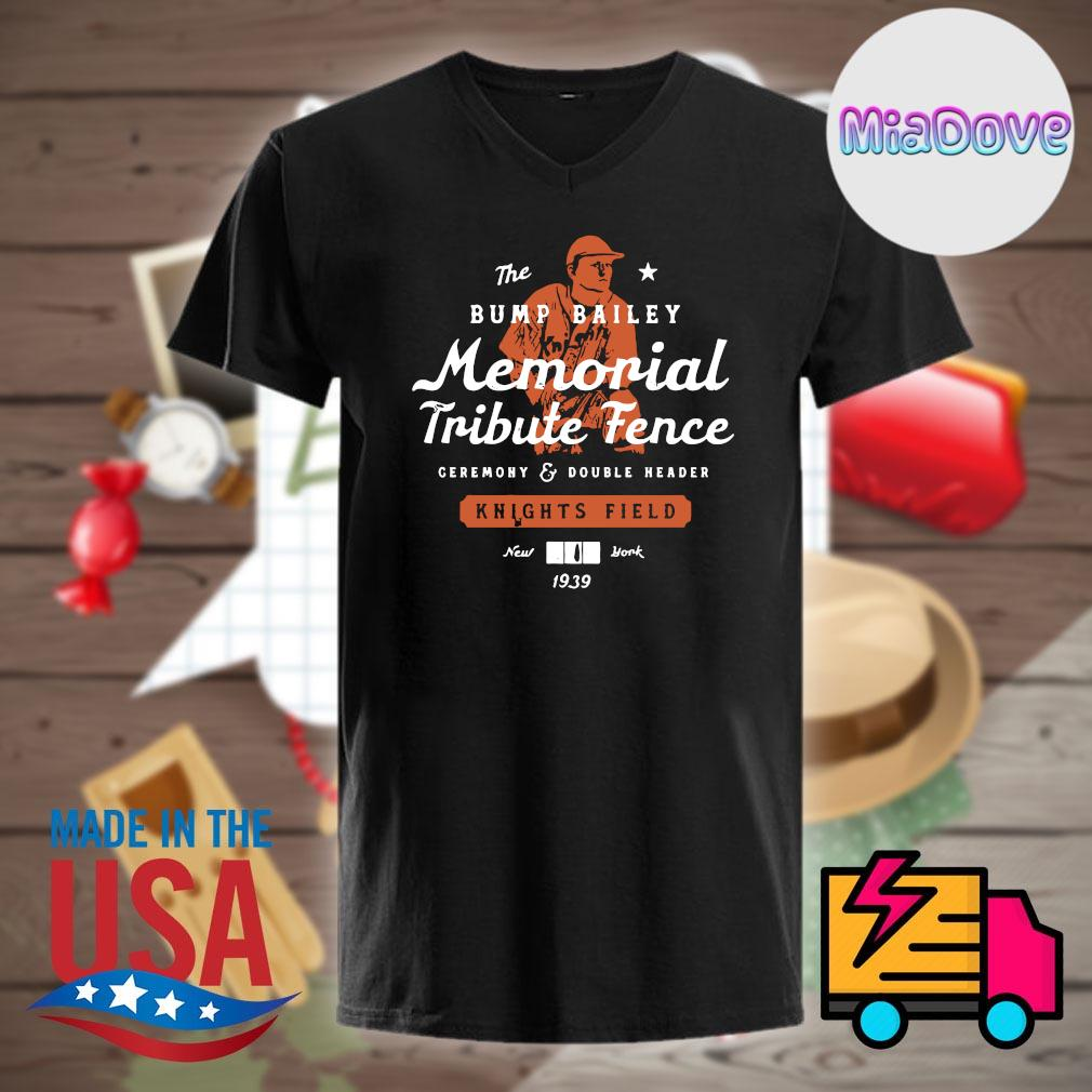 The Bump Bailey memorial tribute fence knights field New York 1939 shirt