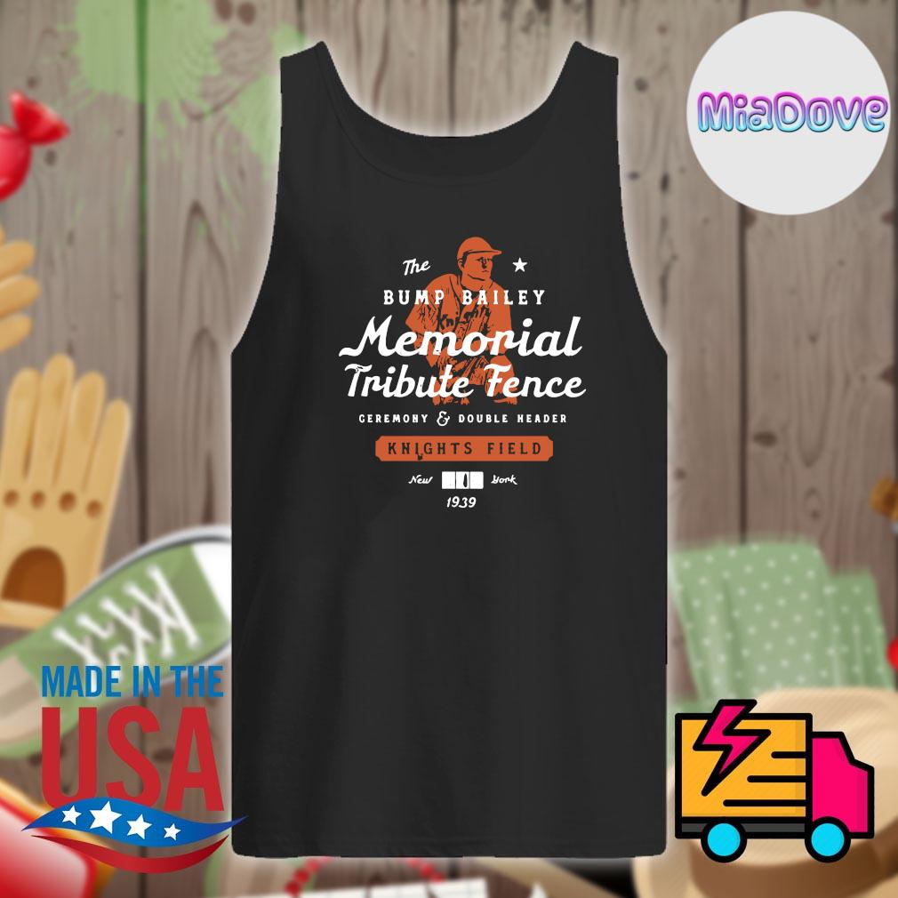 The Bump Bailey memorial tribute fence knights field New York 1939 s Tank-top