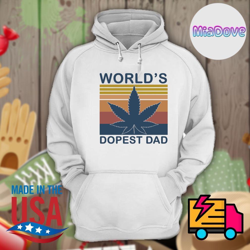 Weed World's dopest dad vintage s Hoodie