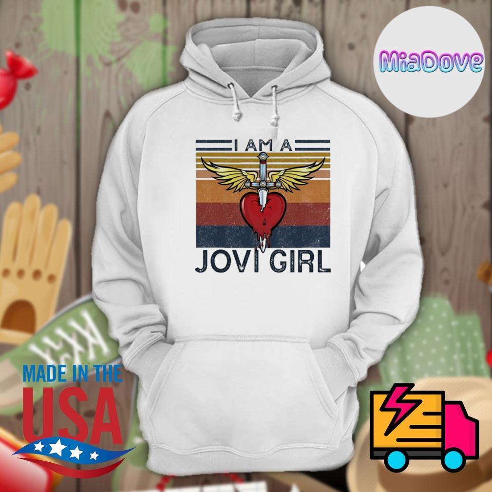 Sword heart I am a Jovi girl vintage s Hoodie