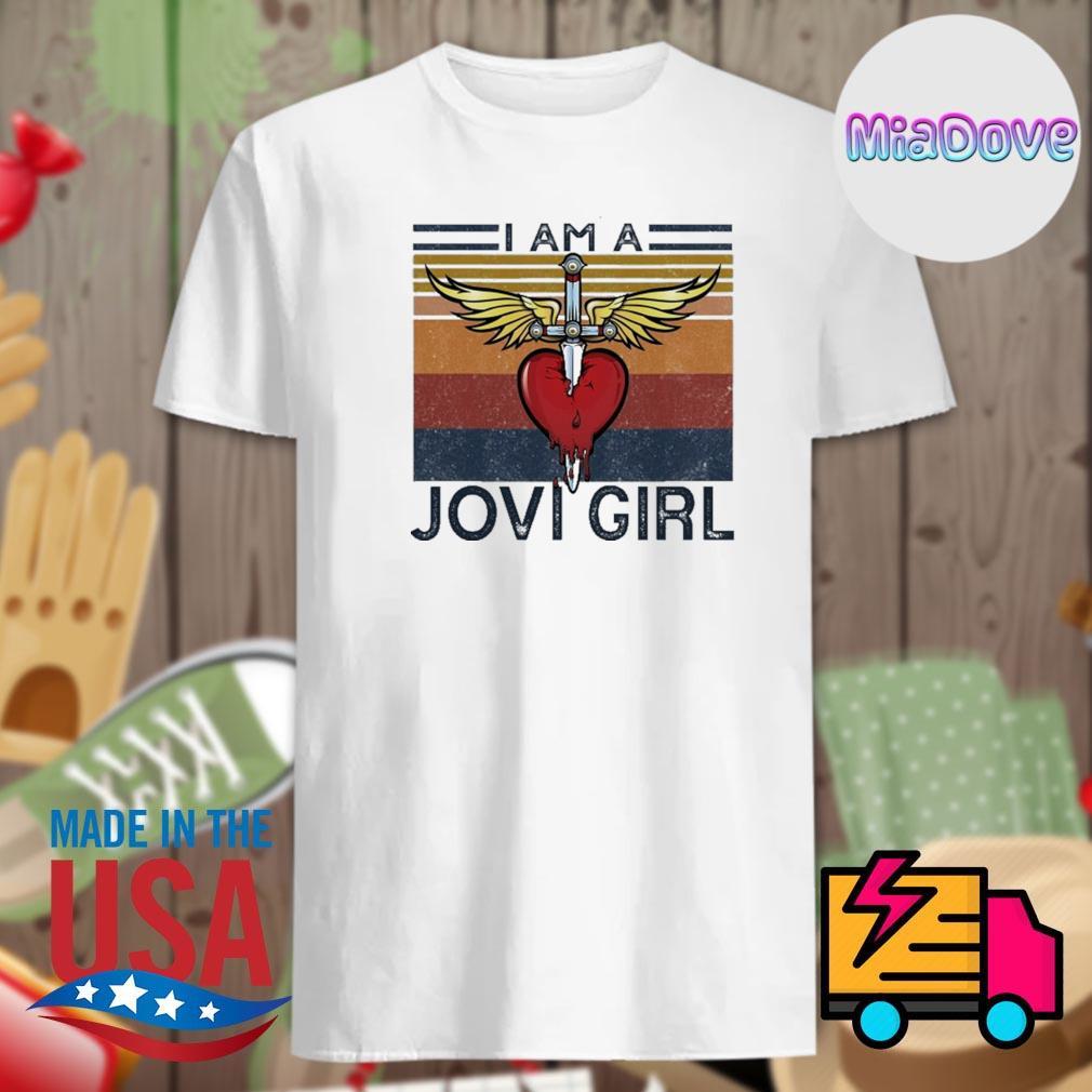 Sword heart I am a Jovi girl vintage shirt