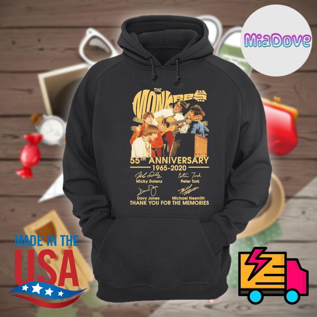 The Monkees 55th anniversary 1965-2020 signatures thank you for the memories s Hoodie
