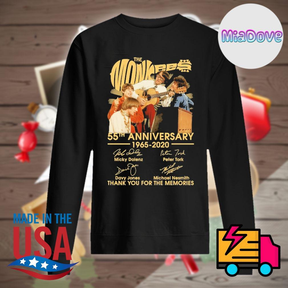 The Monkees 55th anniversary 1965-2020 signatures thank you for the memories s Sweater