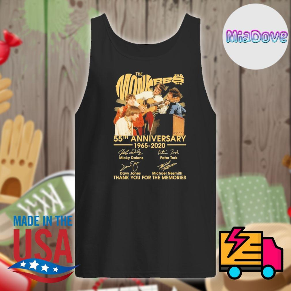 The Monkees 55th anniversary 1965-2020 signatures thank you for the memories s Tank-top