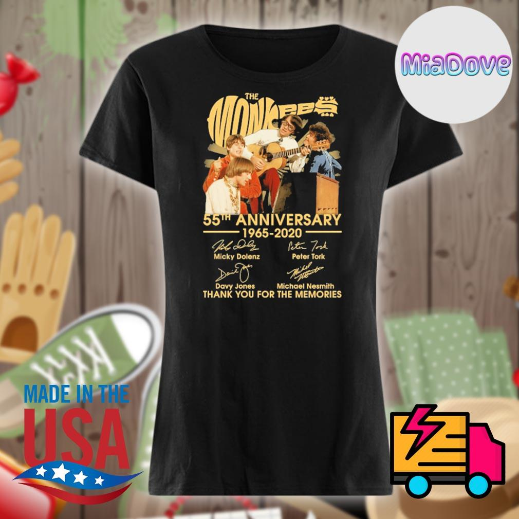 The Monkees 55th anniversary 1965-2020 signatures thank you for the memories s V-neck