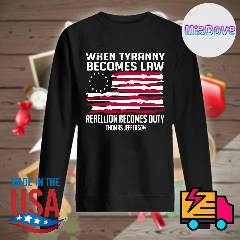 When tyranny becomes law rebellion becomes duty Thomas Jefferson s Sweater