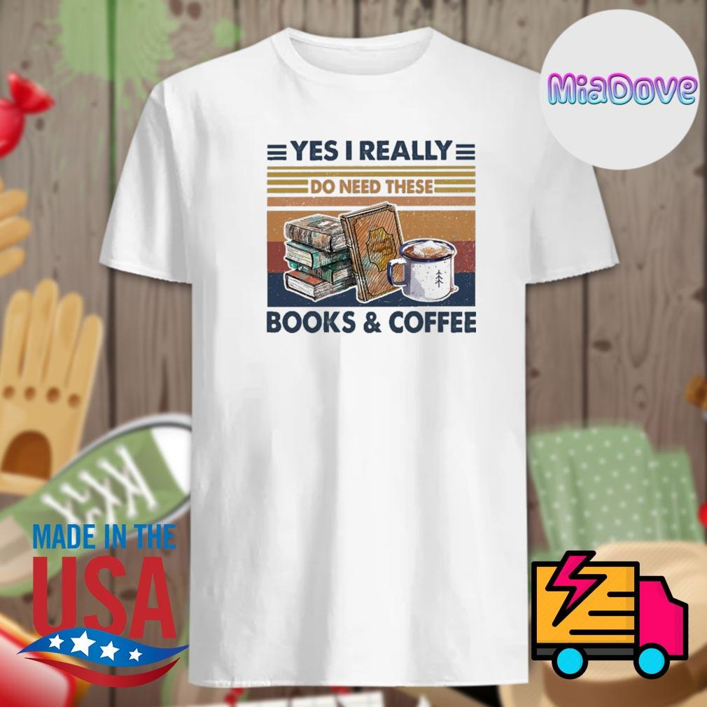 Yes I really do need these books and coffee vintage shirt
