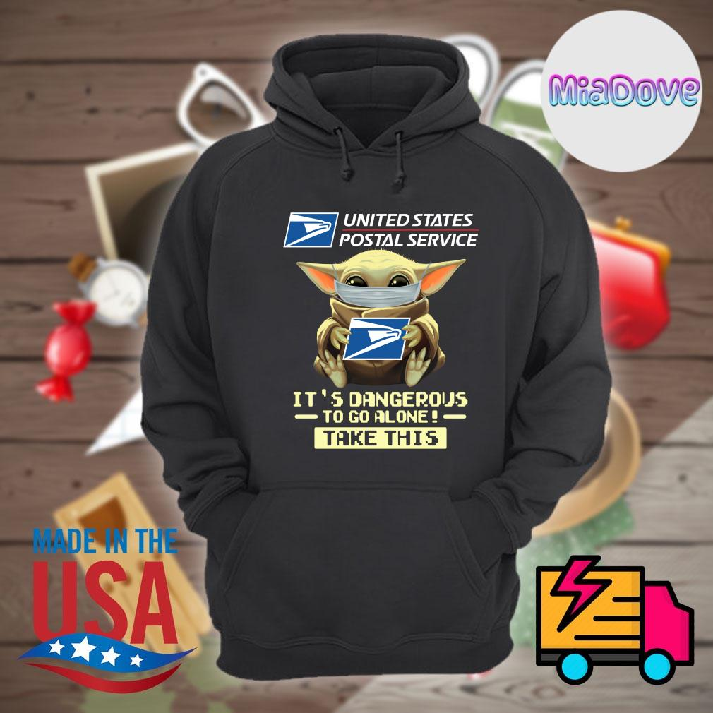 Baby yoda mask united states postal service it's dangerous to go alone take this s Hoodie