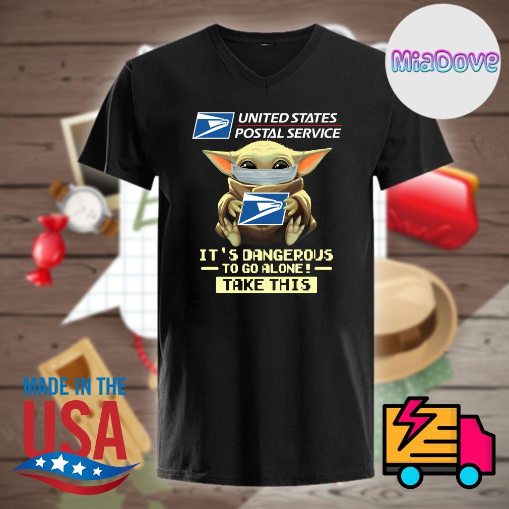 Baby yoda mask united states postal service it's dangerous to go alone take this shirt