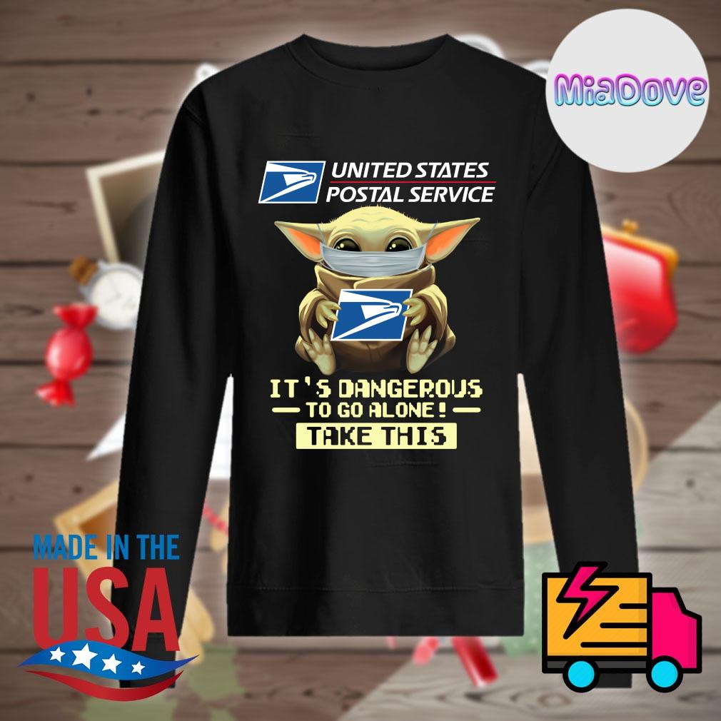 Baby yoda mask united states postal service it's dangerous to go alone take this s Sweater