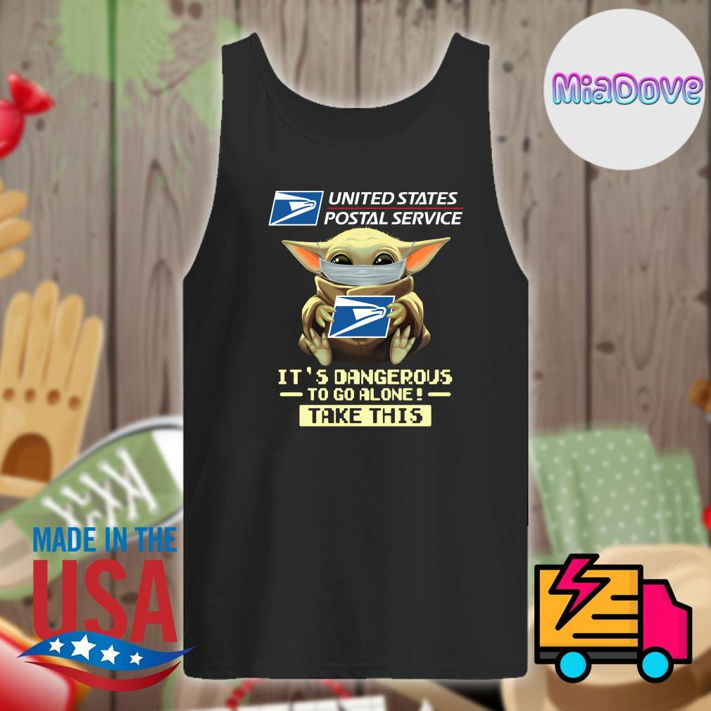 Baby yoda mask united states postal service it's dangerous to go alone take this s Tank-top