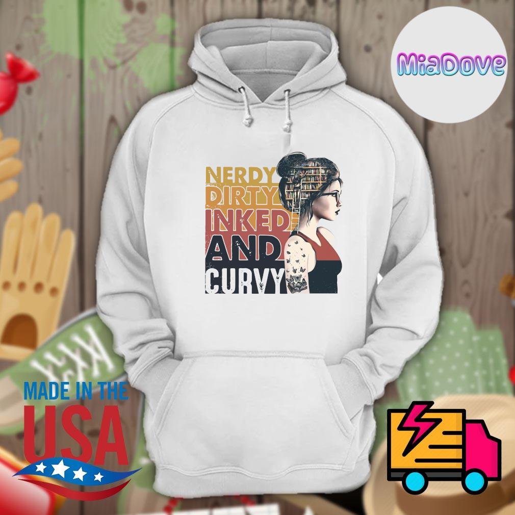 Bookworm Nerdy dirty inked and curvy s Hoodie