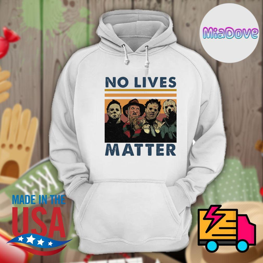 Horror movies characters no lives matter vintage s Hoodie