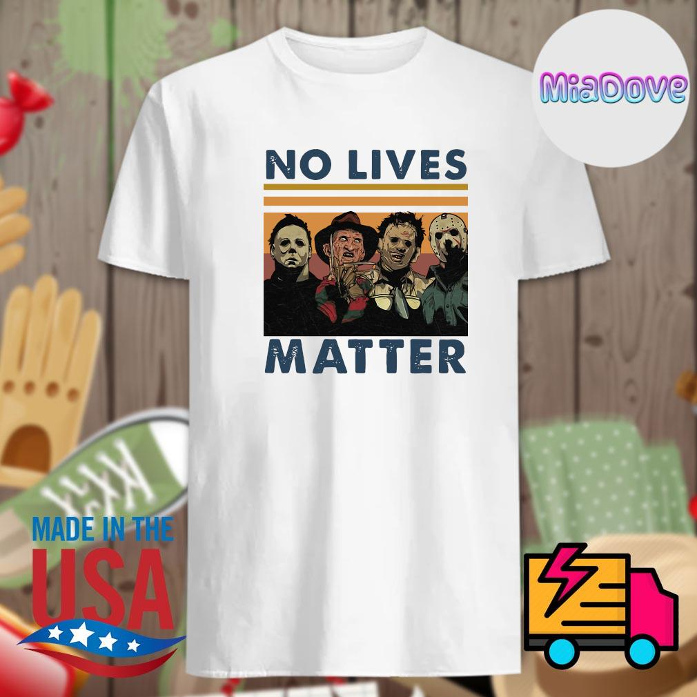 Horror movies characters no lives matter vintage shirt