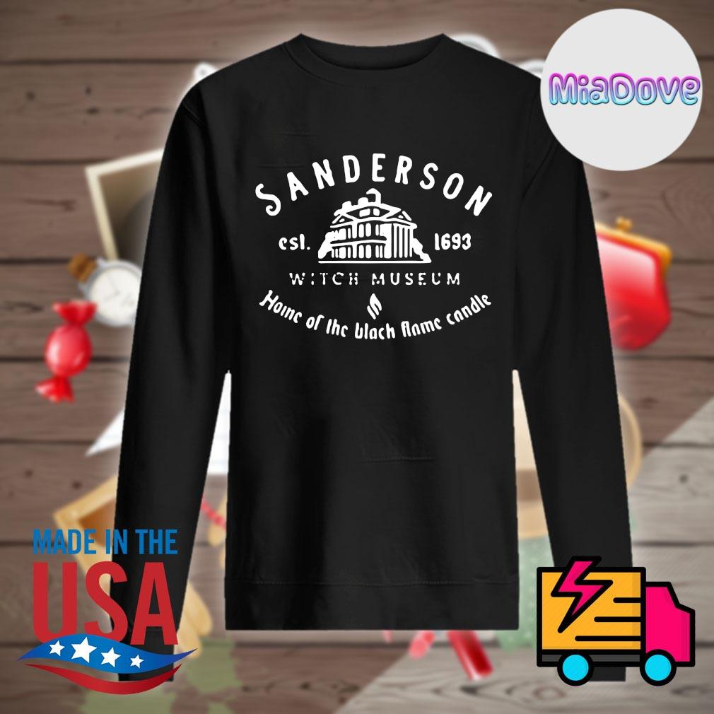 Sanderson est 1693 witch museum home of the black flame candle s Sweater