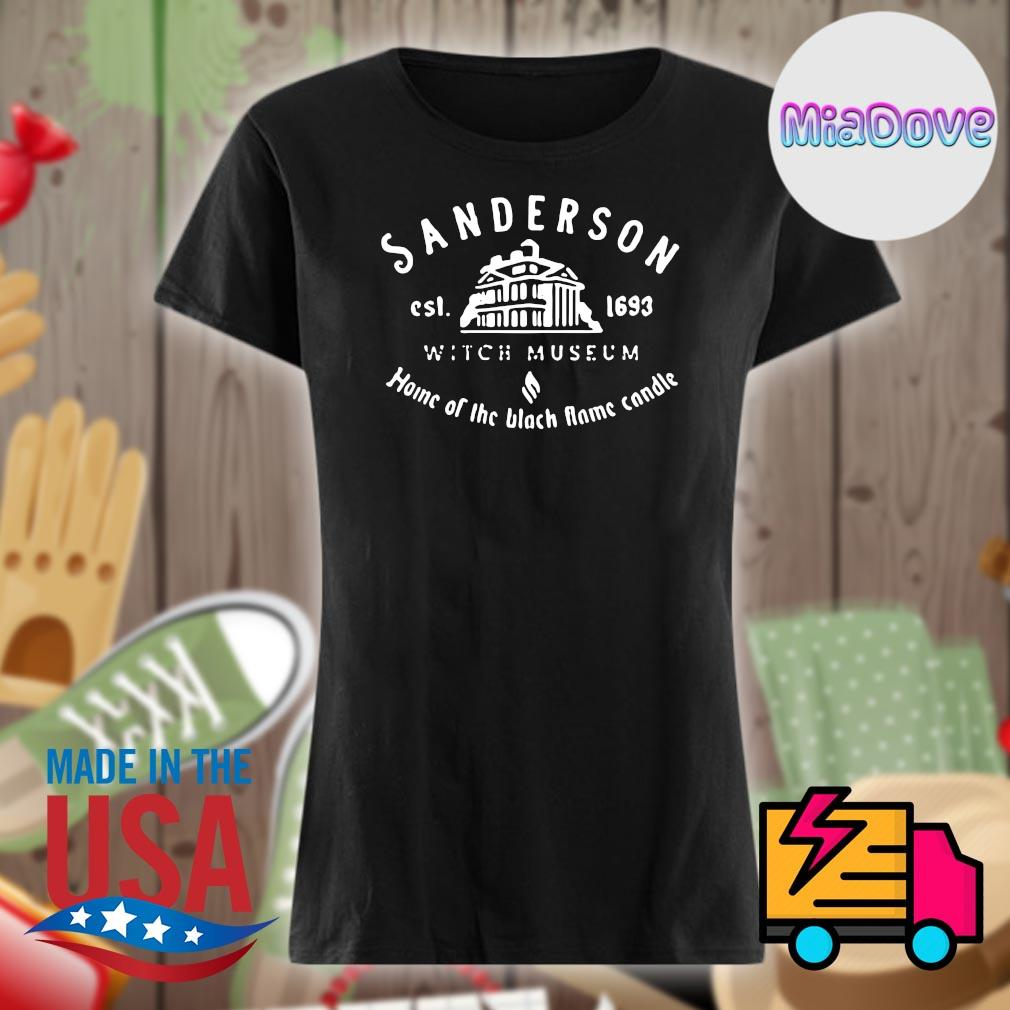 Sanderson est 1693 witch museum home of the black flame candle s V-neck