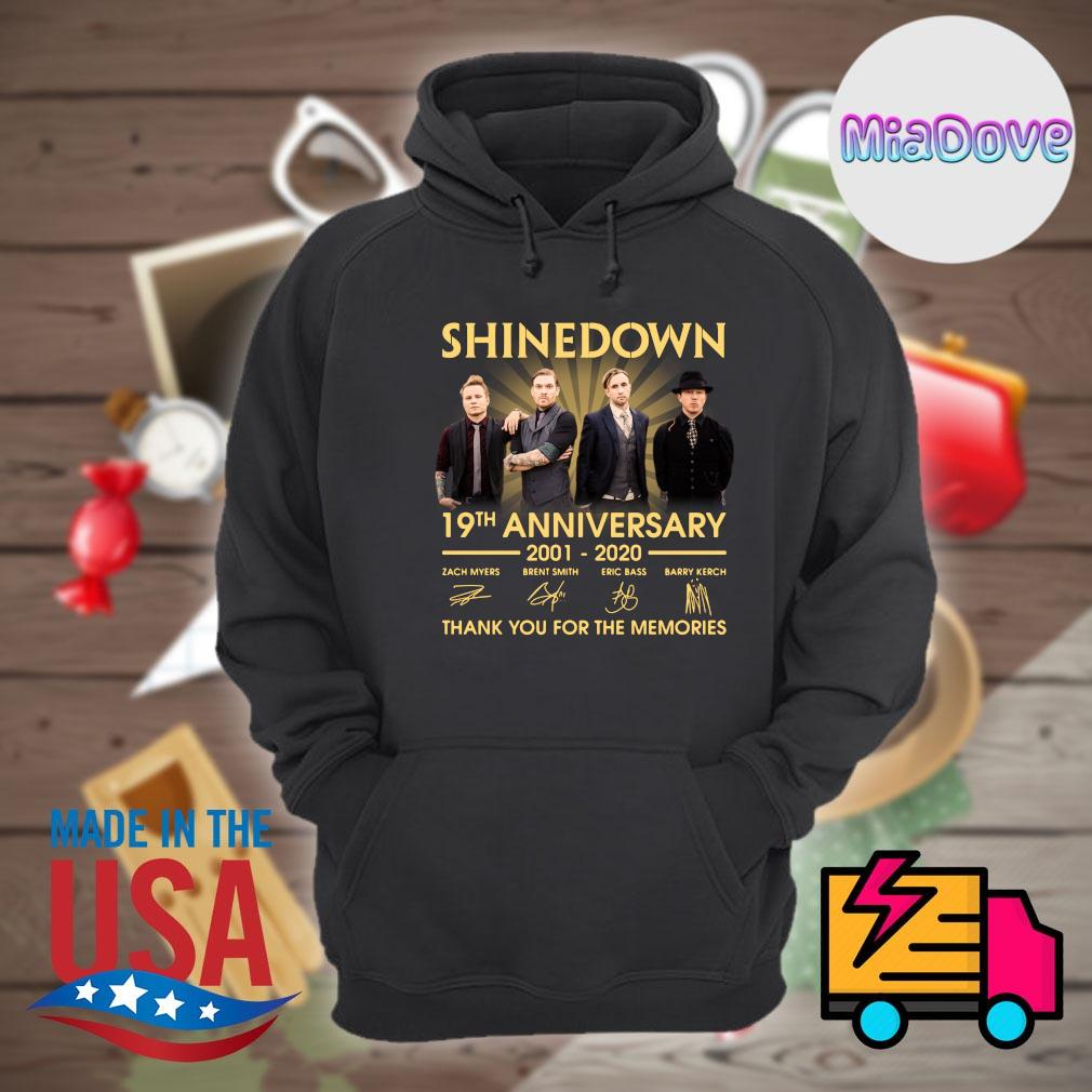 Shinedown 19th anniversary 2001 2020 signatures thank you for the memories s Hoodie
