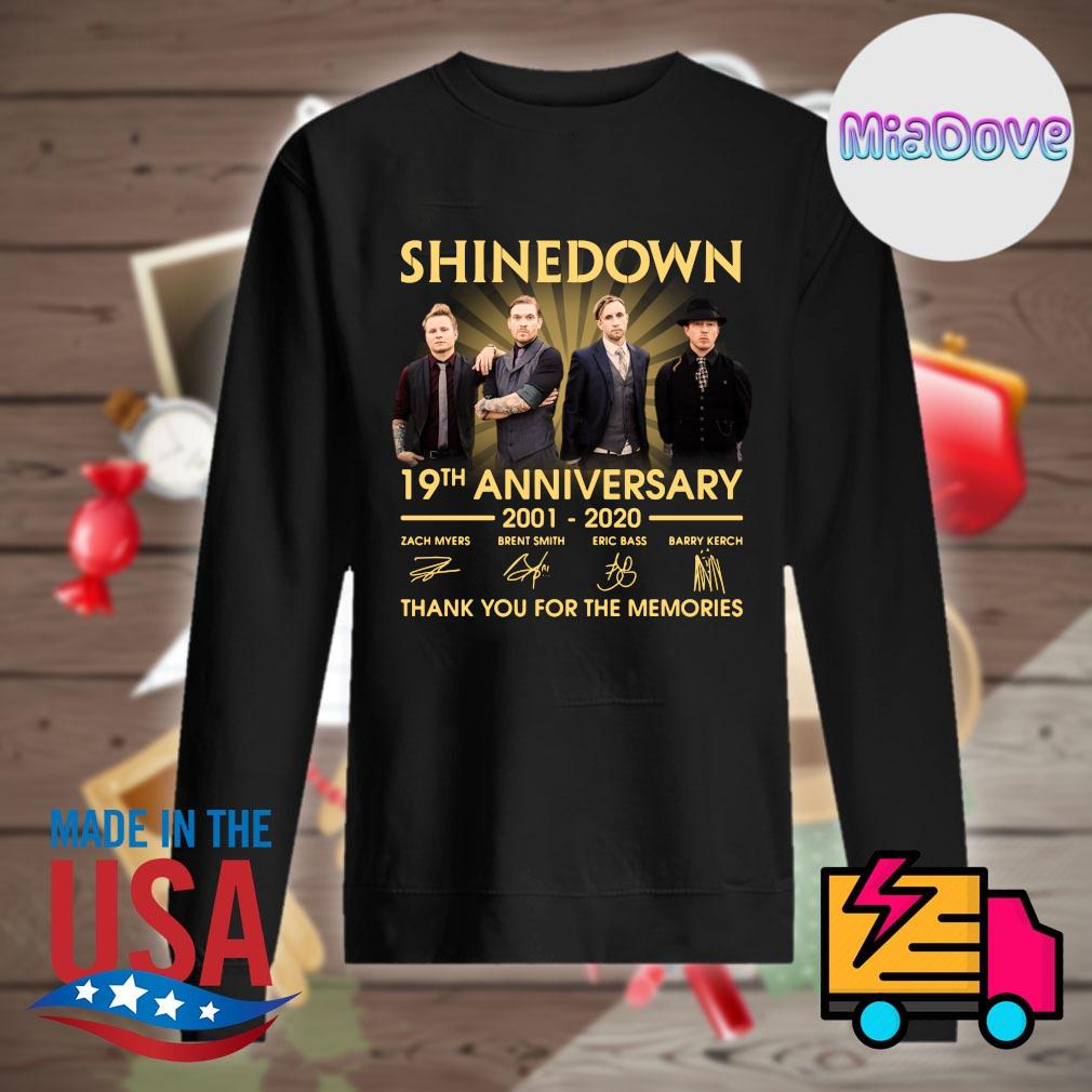 Shinedown 19th anniversary 2001 2020 signatures thank you for the memories s Sweater