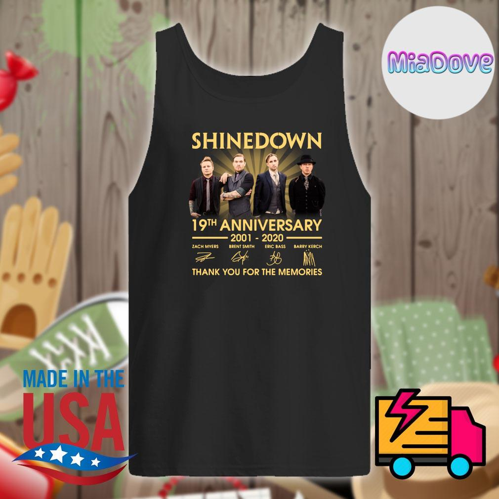 Shinedown 19th anniversary 2001 2020 signatures thank you for the memories s Tank-top