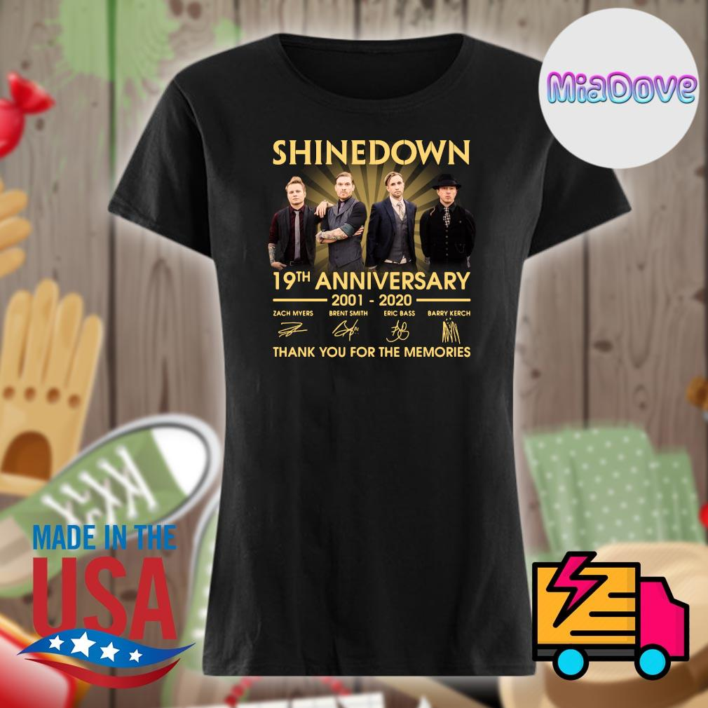 Shinedown 19th anniversary 2001 2020 signatures thank you for the memories s V-neck