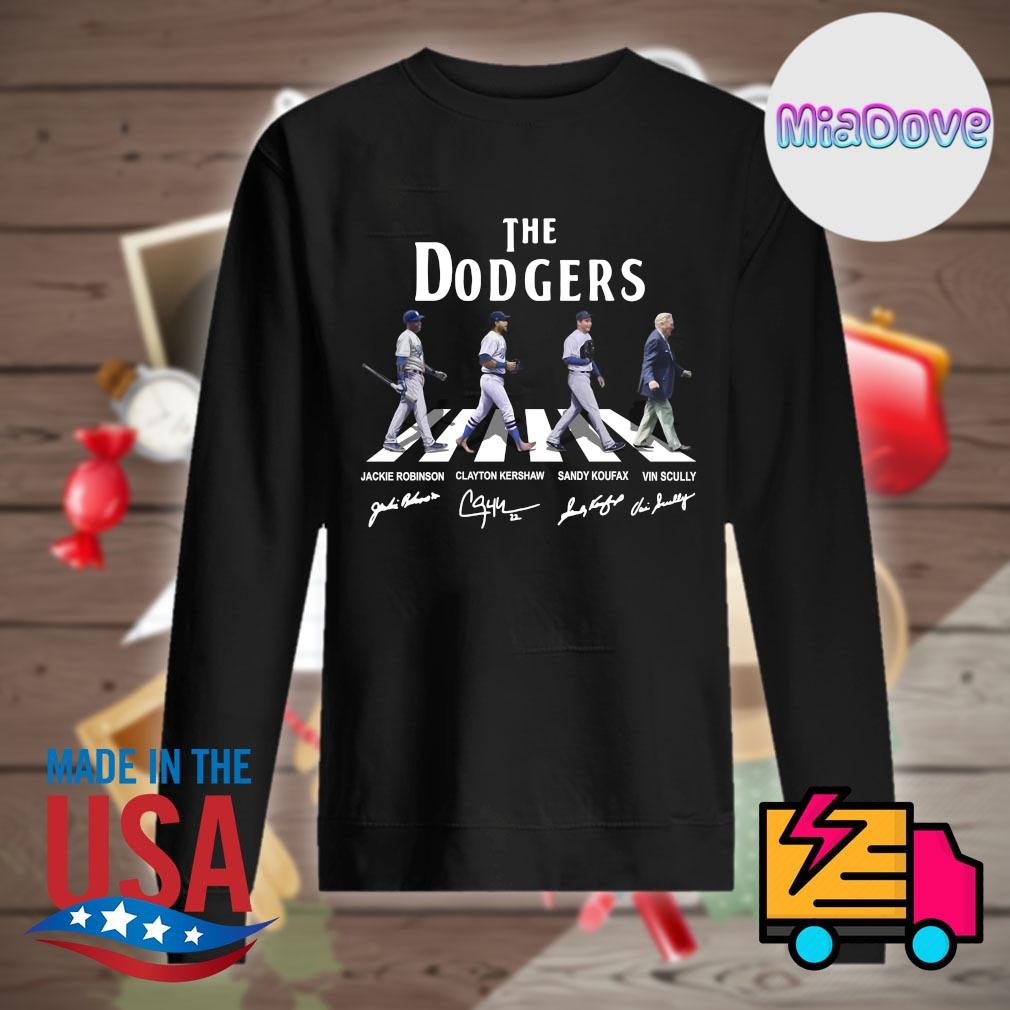 The Dodgers Abbey Road signatures s Sweater
