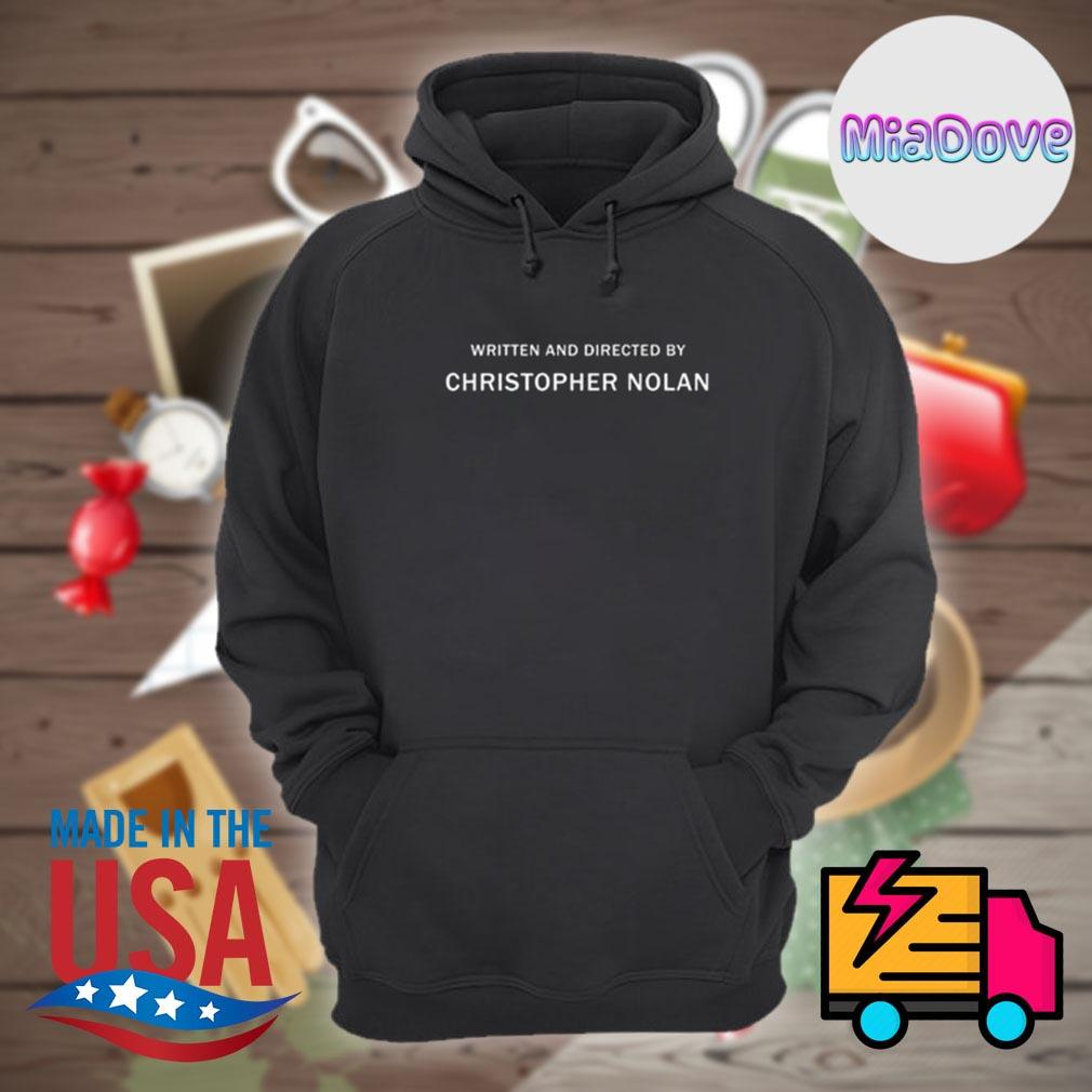 Written and directed by christopher nolan s Hoodie